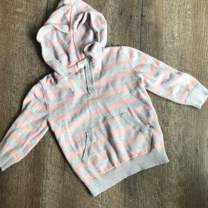 H&M infant girl long sleeve hooded top